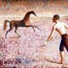 Horse Rearing Boy Running II