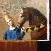 Harlequin and Horse