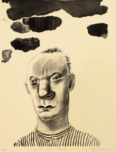 1981, Head with Clouds II, Lithograph
