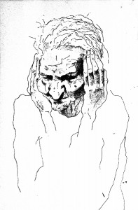 1979, Head study, Pen and ink
