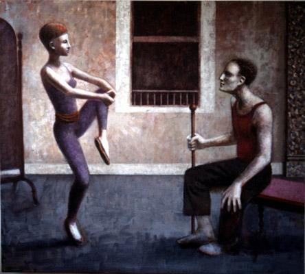 1989-1990, Répétition, Oil on canvas, 137cm x 152cm