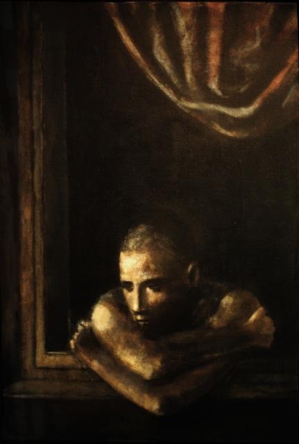1985, Fenetre du Soir, Acrylic on canvas, 64cm x 44cm