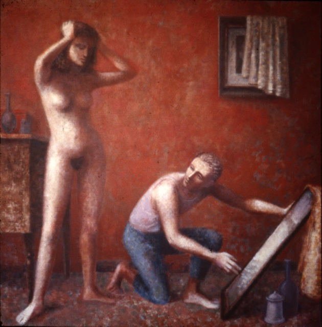 1991, La Toilette, Acrylic on canvas, 152cm x 152cm