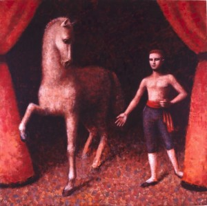 1990, Entrance II, Oil on canvas, 152cm x 152cm