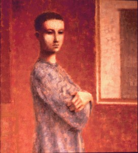 1987, Figure by Window, Acrylic on canvas, 51cm x 46cm