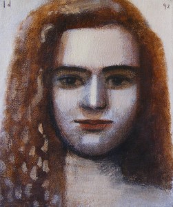 1991, Portrait of Daphne, Acrylic on canvas, 30cm x 25cm