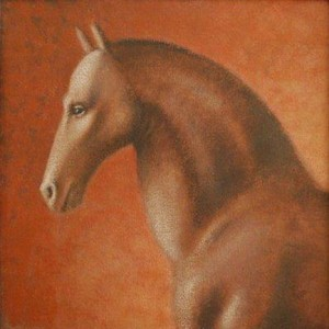 1986, Horse Head II, Acrylic on canvas, 30cm x 30cm