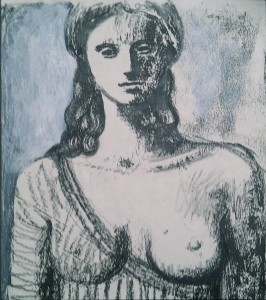 1991, Laura study 01, Mixed media, 25cm x 20cm
