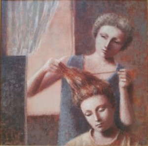 1987, Finishing Touches II, Acrylic on canvas, 50cm x 50cm