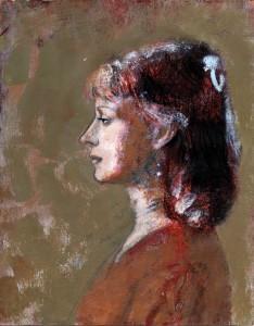 1995, Portrait of Dora, Mixed media, 26cm x 21cm