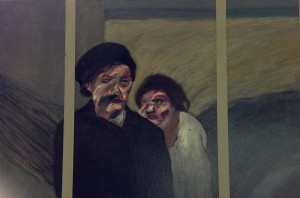1978, Two Figures, Triptych, 40cm x 60cm