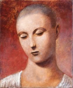 1989, Self portrait 03, Acrylic on canvas, 30cm x 25cm