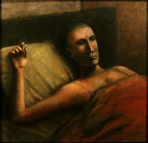 1984, Abed, Acrylic on canvas, 46cm x 46cm