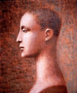 1986, Self-Portrait 12, Acrylic on canvas, 32cm x 25cm