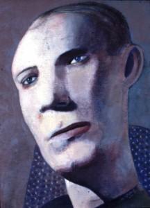 1982, Male Portrait 01, Acrylic on canvas, 30cm x 23cm