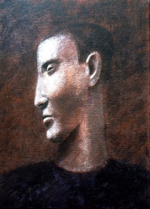 1983, Male Portrait 01, Acrylic on canvas, 30cm x 25cm