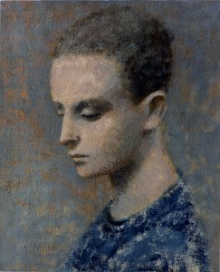 1988, Self-Portrait 02, Acrylic on canvas, 30cm x 25cm