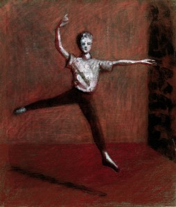 1988, Dancer study 03, Mixed media, 25cm x 21cm